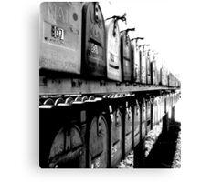 B37 : bingo Mailboxes. Trailer Park America Series Canvas Print