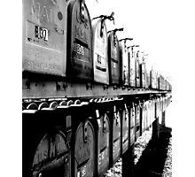 B37 : bingo Mailboxes. Trailer Park America Series Photographic Print