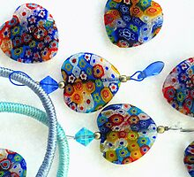 hearts in rainbow colours by poshbeads