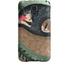 Girl doodling on her sky whale Samsung Galaxy Case/Skin