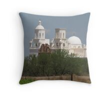 San Xavier from the Coop Farm Throw Pillow