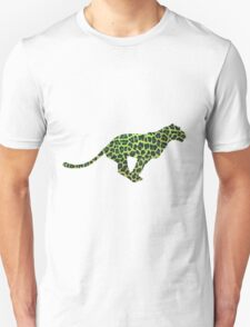 Leopard Black and Green Print T-Shirt