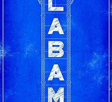 Alabama Theatre Marquee Blueprints - Classic Birmingham by Mark Tisdale