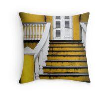 Yellow Doorway Throw Pillow