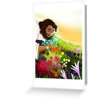 Easter Ressurection Day - Jesus in field of flowers Greeting Card