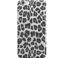 Leopard Gray and Light Gray Print iPhone Case/Skin