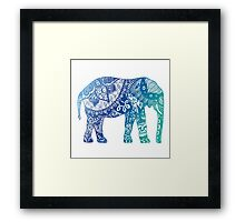 Blue Elephant Framed Print