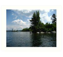 "Squam Lake, NH = ""On Golden Pond"" !!!  (movie location!) Art Print"