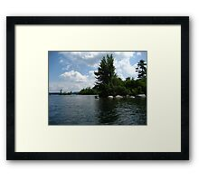 "Squam Lake, NH = ""On Golden Pond"" !!!  (movie location!) Framed Print"