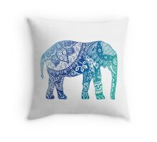 Blue Elephant Throw Pillow