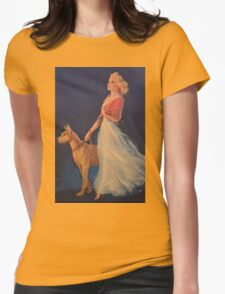Vintage Picture- Elegant woman with her Dog T-Shirt