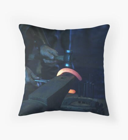 Hot Iron Throw Pillow