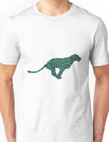 Leopard Brown and Teal Print Unisex T-Shirt