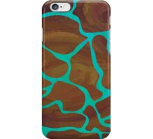 Giraffe Brown and Teal Print iPhone Case/Skin
