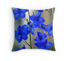 Garden of Blue Throw Pillow