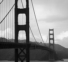B W Golden Gate Bridge by Victor He