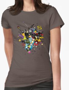 Music world design t-shirt Womens Fitted T-Shirt