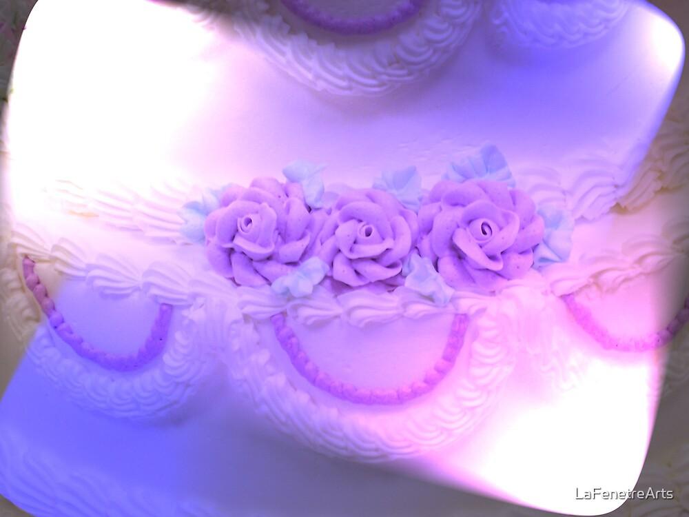 PurpleHaze Wedding Cake by LaFenetreArts