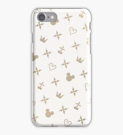 Kingdom Hearts Slanted Gold Pattern iPhone Case/Skin
