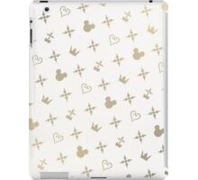 Kingdom Hearts Slanted Gold Pattern iPad Case/Skin