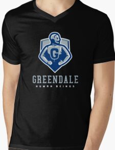 Greendale Human Beings Mens V-Neck T-Shirt