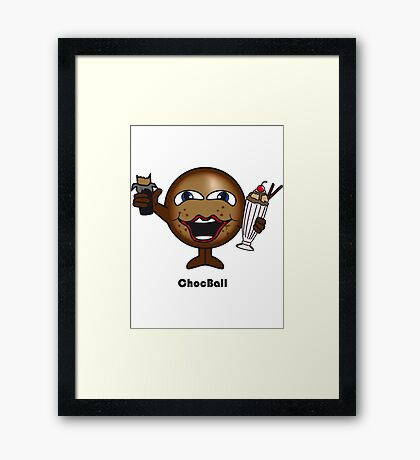Choc Ball Framed Print