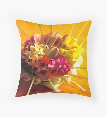 Balinese offering Throw Pillow
