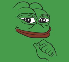Smug Pepe - Pepe the Frog Kids Tee