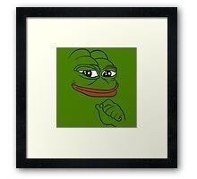 Smug Pepe - Pepe the Frog Framed Print