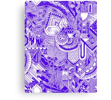 Indigo Wave Canvas Print