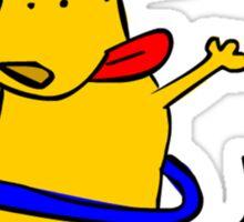 Yellow Dog Blue Hoop Sticker