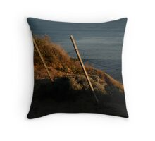 losing the battle Throw Pillow