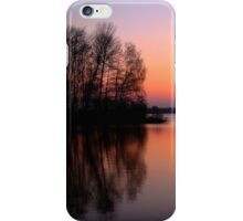 reflection sunset iPhone Case/Skin
