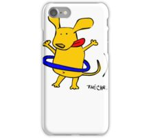 Yellow Dog Blue Hoop iPhone Case/Skin