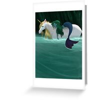 The Mermaid and the Unicorn Greeting Card