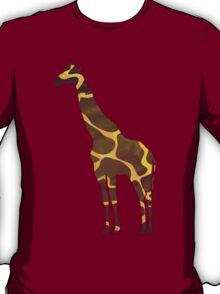 Giraffe Brown and Yellow Print T-Shirt