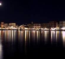 Panoramic Chania Old harbour by Basiliss