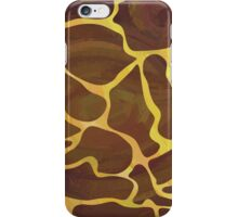Giraffe Brown and Yellow Print iPhone Case/Skin