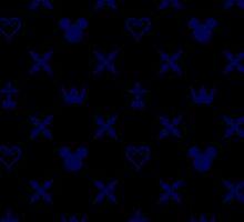 Kingdom Hearts Onyx Pattern by destinyislands