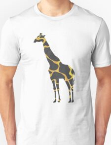 Giraffe Black and Yellow Print T-Shirt