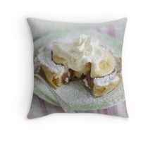 Banana Caramel Pie Throw Pillow