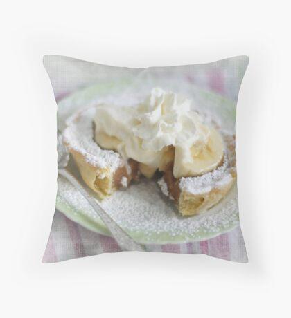 Banana Caramel Pie Throw Pillow