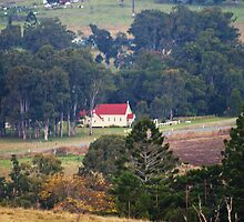 Rural Church via Rathdowney Qld by Virginia McGowan