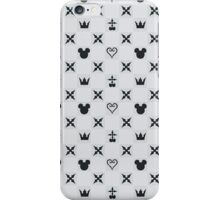 Kingdom Hearts Charcoal Pattern iPhone Case/Skin