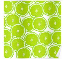 Summer Citrus Lime Slices Poster