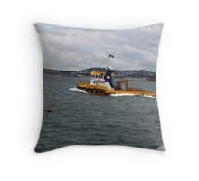 the mustang salvage ship Throw Pillow