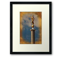 Provo LDS Temple - Angel Moroni Framed Print
