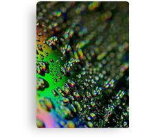Water Drops - Rainbow Colors Canvas Print