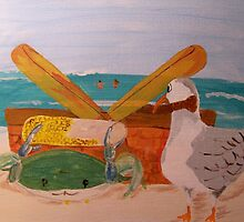 Crab and Seagull Party by Pinkham