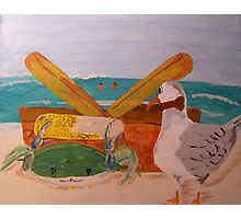 Crab and Seagull Party Photographic Print